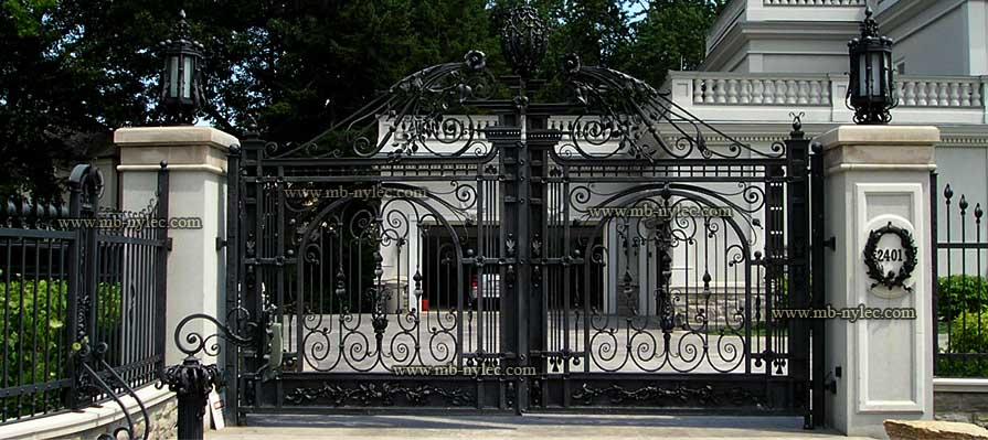 pałacowa brama stalowa